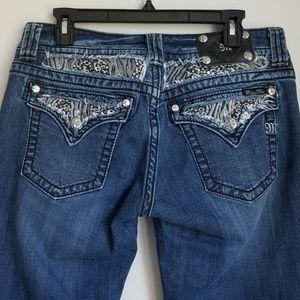 Miss Me Rhinestone Capri Jeans